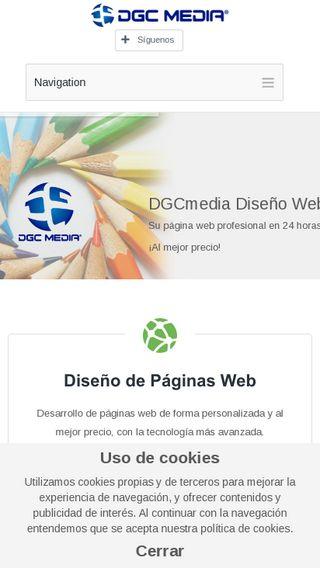 Mobile preview of dgcmedia.es