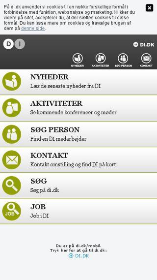 Mobile preview of di.dk