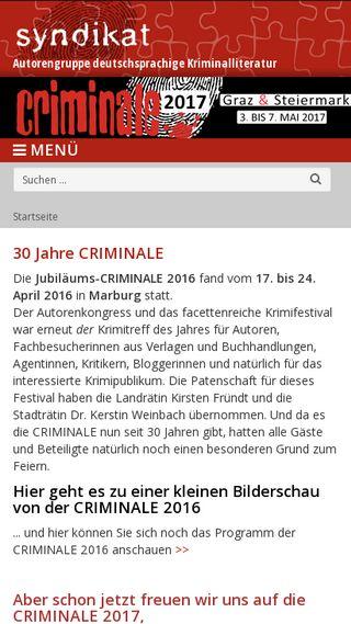 Mobile preview of die-criminale.de