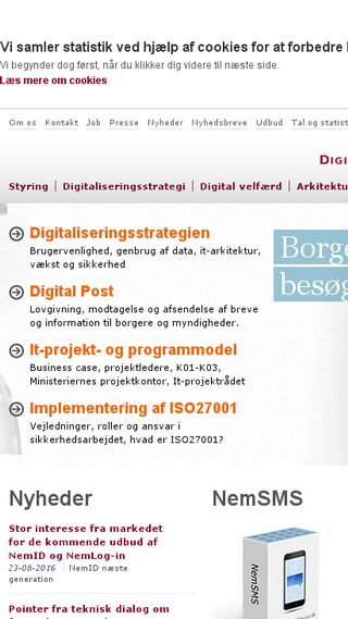 Mobile preview of digst.dk