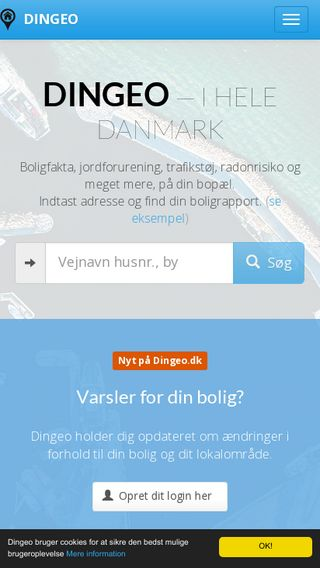 Mobile preview of dingeo.dk