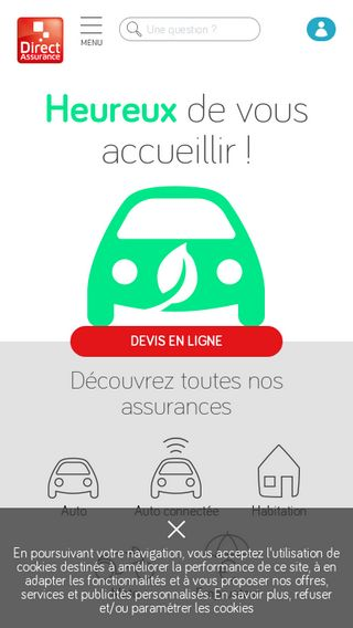 Mobile preview of direct-assurance.fr