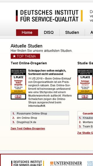Mobile preview of disq.de