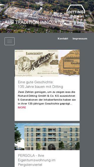 Mobile preview of ditting-bau.de