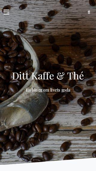 Mobile preview of dittkaffeochthe.se