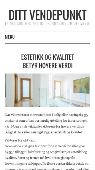 Mobile preview of dittvendepunkt.no