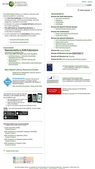 Mobile preview of dl.acm.org