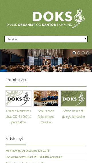 Mobile preview of doks.dk