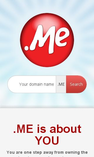 Mobile preview of domain.me