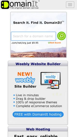 Mobile preview of domainit.com