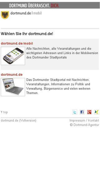 Mobile preview of dortmund.de