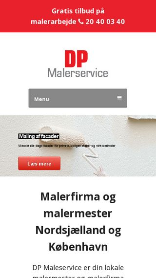 Mobile preview of dpmalerservice.dk