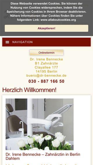 Mobile preview of dr-bennecke.de