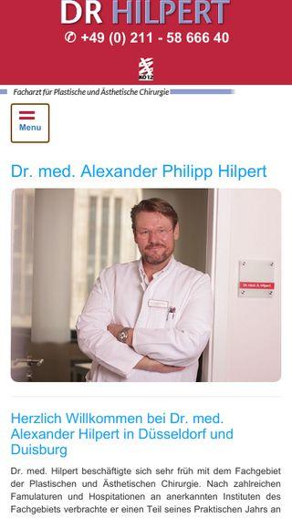 Mobile preview of dr-hilpert.de