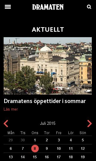 Mobile preview of dramaten.se