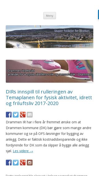Mobile preview of drammenir.no