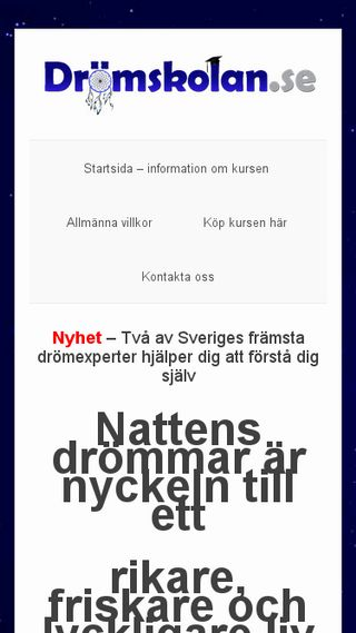 Mobile preview of dromskolan.se