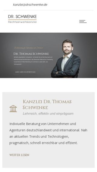 Mobile preview of drschwenke.de