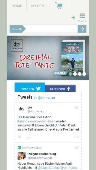 Mobile preview of dtv.de