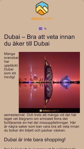 Mobile preview of dubaiguiden.se