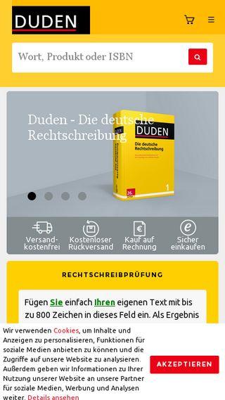 Mobile preview of duden.de