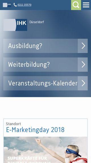 Mobile preview of duesseldorf.ihk.de