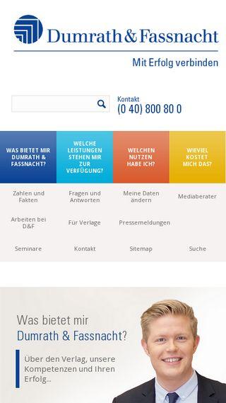 Mobile preview of duf.de