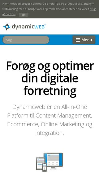 Mobile preview of dynamicweb.dk