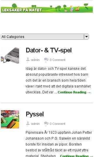 Mobile preview of e-leksaker.se
