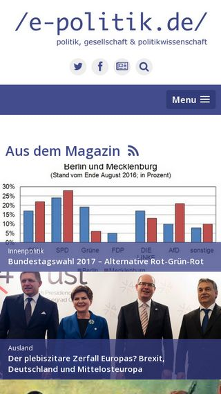 Mobile preview of e-politik.de