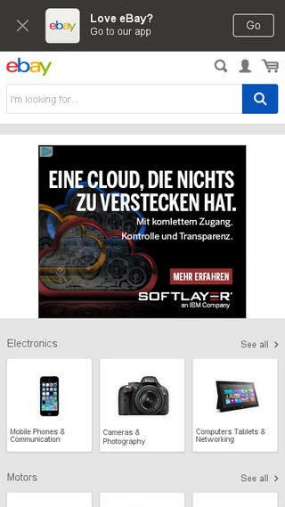 Mobile preview of ebay.ie