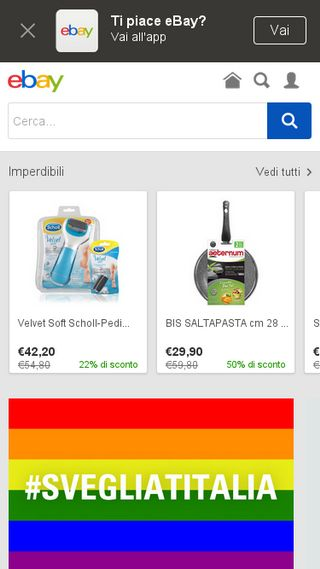 Mobile preview of ebay.it