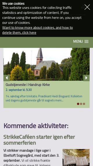 Mobile preview of ebeltoftdraabyhandrupkirker.dk