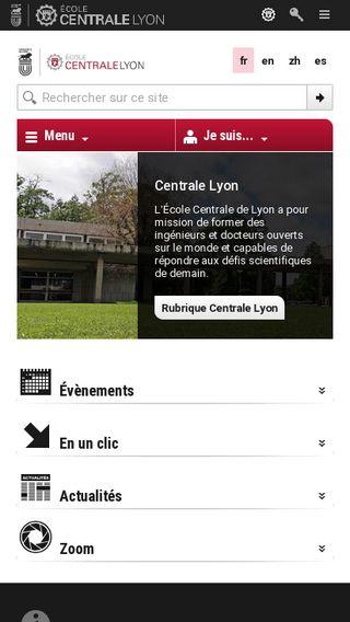 Mobile preview of ec-lyon.fr