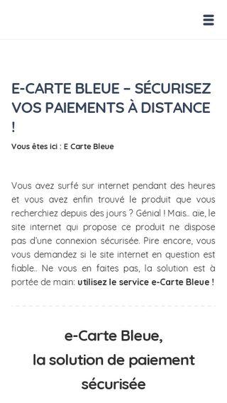 Mobile preview of ecarte-bleue.info