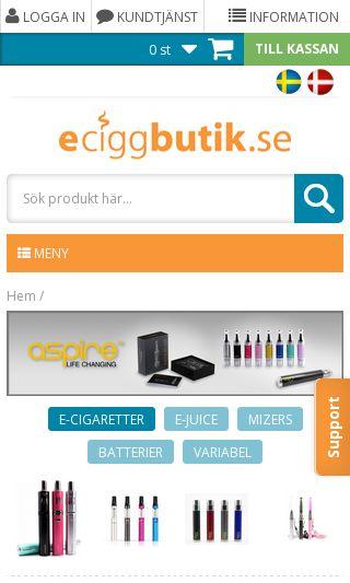 Mobile preview of eciggbutik.se