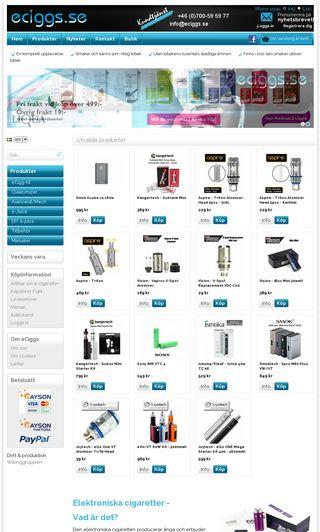 Mobile preview of eciggsverige.nu
