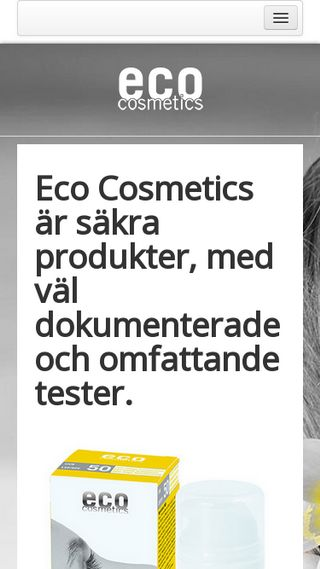 Mobile preview of eco-cosmetics.se
