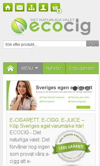 Mobile preview of ecocig.se