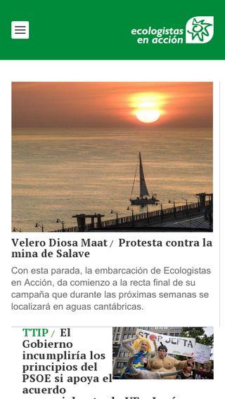 Mobile preview of ecologistasenaccion.org