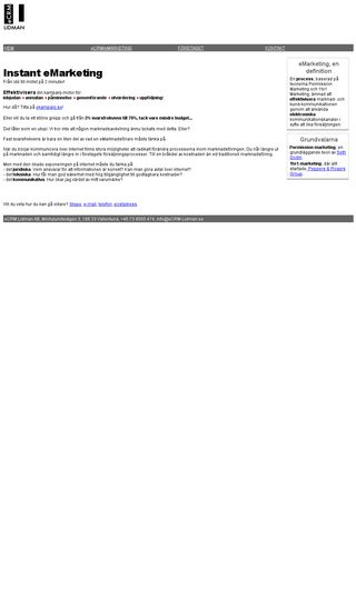 Mobile preview of ecrm-lidman.se