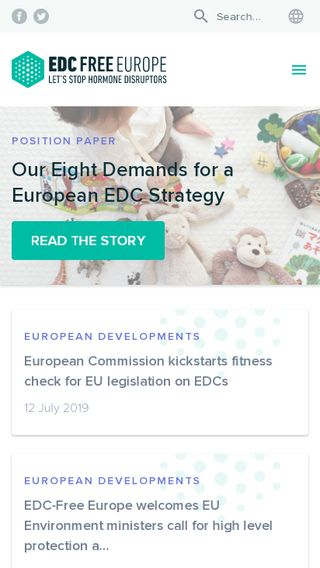 Mobile preview of edc-free-europe.org