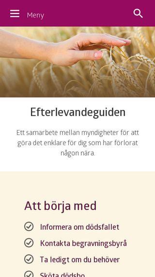 Mobile preview of efterlevandeguiden.se