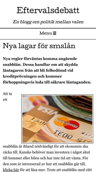 Mobile preview of eftervalsdebatt.se