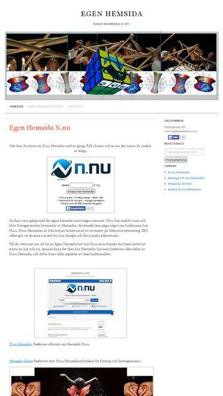Mobile preview of egenhemsida.n.nu