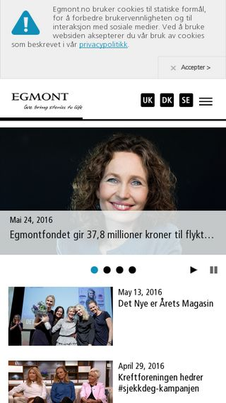Mobile preview of egmont.no