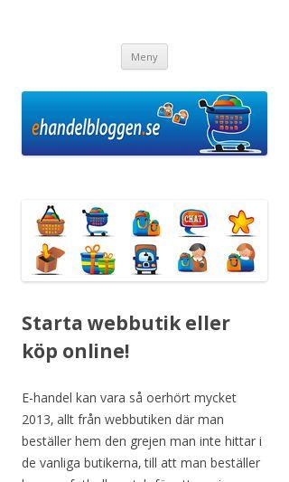 Mobile preview of ehandelbloggen.se