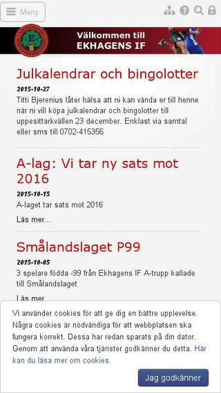 Mobile preview of ekhagensif.se