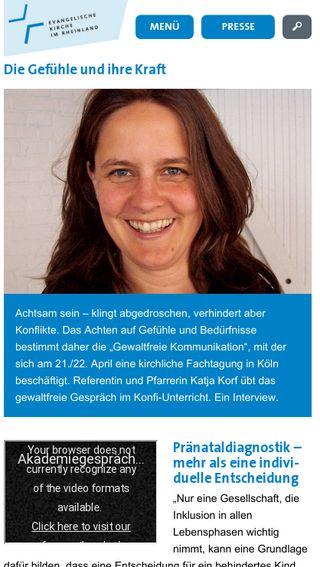 Mobile preview of evangelisch-im-saarland.de
