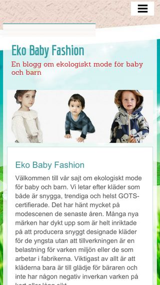 Mobile preview of ekobabyfashion.se